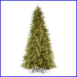 Feel-Real Tiffany Fir-Slim Hinged Pre-Lit Christmas Tree, 12 ft