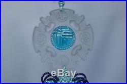 Feng Shui Liuli Crystal Glass Talisman Blessing Car Hanging Ornaments RARE