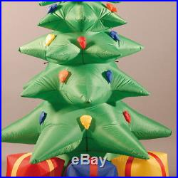 Festive Lights 7ft 2.1m Mains Power Inflatable 3D Christmas Tree with Gifts