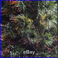 Fiber Optic Firework Evergreen Christmas Tree, Multicolor, 5 ft