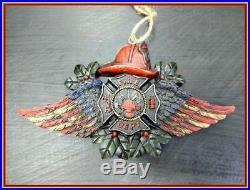 Firefighter Fireman Fire Dept Christmas Ornament Hanging Decor Gift 3 Piece Set