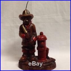 Firefighter with fire hydrant candle figure by GSC@