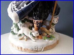Fitz Amp Floyd Bristol Holiday Santa Figurine Christmas Blue White Large 18 Christmas Decor World