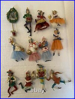 Fitz and Floyd 12 Days of Christmas Ornaments COMPLETE Set X-MAS