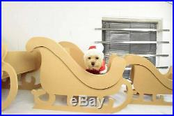 Flat packed Christmas Sleigh Design PHOTO PROP SHOP DISPLAY RETAIL DISPLAY