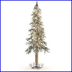 Flocked Alpine Pine 6 Christmas Tree Pre Lit Led