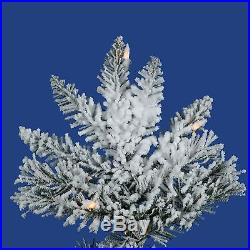 Flocked Utica Slim Pre-lit Christmas Tree