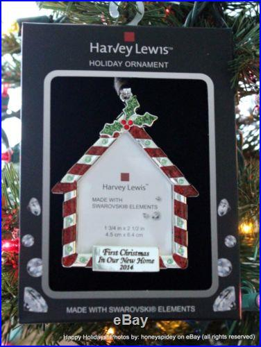Frame First Christmas In Our New Home 2014 Harvey Lewis Swarovski Ornament Nib
