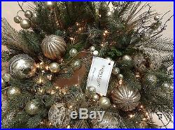 Frontgate Christmas Holiday Centerpiece Table Mixed Metals Glam Wreath 32