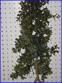 Frontgate Grandinroad Cordless Boxwood Christmas Mantel Swag Garland Pre lit 9