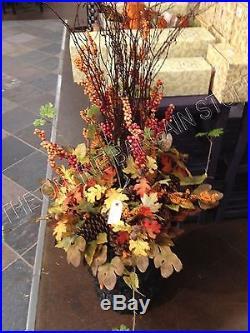Frontgate Grandinroad Harvest Leaves Fall Autumn Urn Filler Thanksgiving