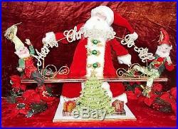 Frontgate Mark Roberts Christmas Holiday See Saw Santa Elves Decor 25 Moving