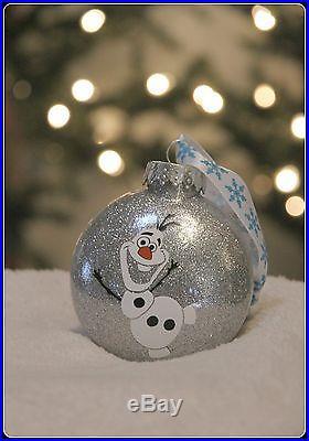 Frozen Inspired Olaf Glitter shatterproof Christmas Ornament