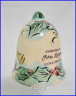 Gail Pittman Rare 1999 Hollylujah Porcelain Christmas Bell