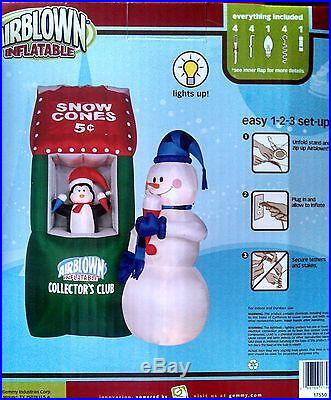 Gemmy Airblown Inflatable Collectors Club Snowman Penguin