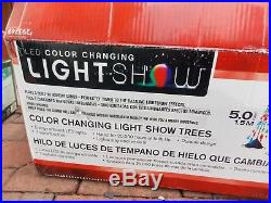 GEMMY LED Light Show Musical Light Up Color Changing Christmas Tree Trees