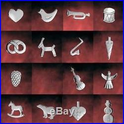 GEORG JENSEN Denmark Kerzenhalter 15 verschiedene Motive, platiniert