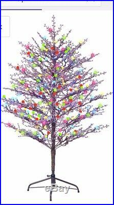 GE 5-ft Freestanding Winterberry Tree with Constant Multicolor LED Lights