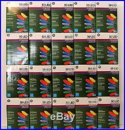 GE LED Multicolor Christmas String Lights Bulk Lot 20 Packages (1000 Bulbs)