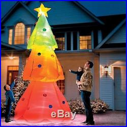 GIANT 10 FT COLOR CHANGING CHRISTMAS TREE INFLATABLE YARD DECOR NEW