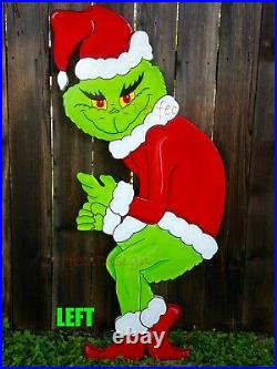 GRINCH Stealing the CHRISTMAS Lights Lawn Yard Art Decoration Decor CUTE LEFT