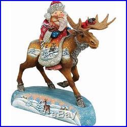 G. Debrekht 511272 Derevo Collection Santa On Moose 9 in