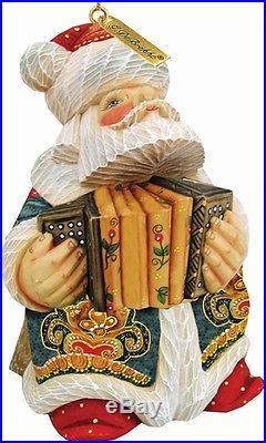 G. Debrekht 651829 General Holiday Accordian Santa Ornament 3 in