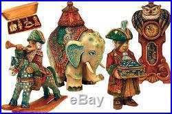 G Debrekht Derevo 4 Piece Nutcracker Ornament Set
