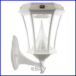 Gama Sonic Victorian White Solar Post and Wall Light