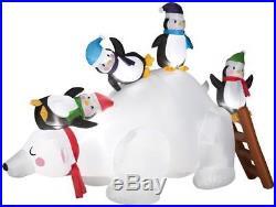 Gemmy 5′ Airblown Polar Bear & Penguins Christmas Inflatable