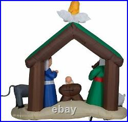 Gemmy 7 Ft Airblown Inflatable Christmas Nativity Scene Outdoor Yard Decor HTF