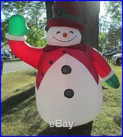 Gemmy 8 Ft. Tall Snowman Airblown Inflatable Light Up Yard Decor Christmas