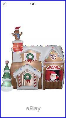 Gemmy 9′ Animated Airblown Gingerbread House Christmas Inflatable