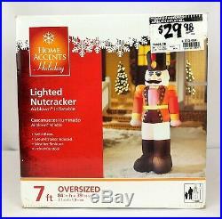 Gemmy Airblown Inflatable 7 ft Lighted Nutcracker Christmas Yard Decor