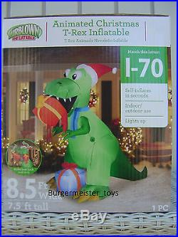 Gemmy Airblown Inflatable T-REX Animated Dinosaur New in Box 8.5′ Wide 7.5′ Tall