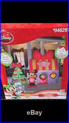 Gemmy Christmas yard inflatable BRAND NEW Minnie Mouse Bow-tique 7FT tall