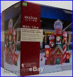 Gemmy Holiday Christmas 10 ft Projection Candy Castle Kaleidoscope Inflatable