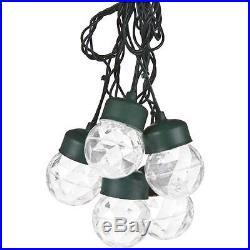 Gemmy LED LightShow Projection 8 White Twirling Swirling Lights String 12 ft