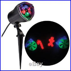 Gemmy LED Light Show Projector Red/Blue 4 lights