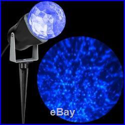 Gemmy LED Lightshow Projection Kaleidoscope Blue Swirling Light New