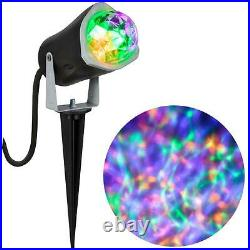 Gemmy LightShow Fire and Ice OPG Orange Purple Green Projection Stake Spot Light