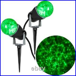 Gemmy LightShow Green Projection Kaleidoscope Stake Light Combo (2 Pack)