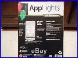 Gemmy Lightshow Applights 140 Effect Multi Color 24 Led C9 Christmas App Lights