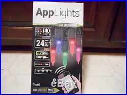 Gemmy Lightshow Applights 140 Effects Multi Color 24 Led Christmas App Lights
