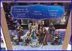 Giant Christmas 9 Piece Nativity Set Outdoor/indoor Decoration Brand New