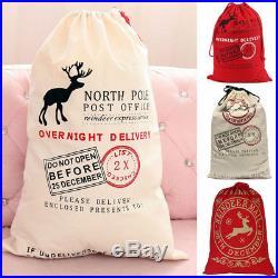 Giant Christmas Sack Santa Bags Hessian Jute Rustic Uinque Stocking Gift Storage