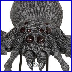 Giant Gargantuan Spider Halloween Decor Poseable Legs Lights Hissing Sounds 9 Ft