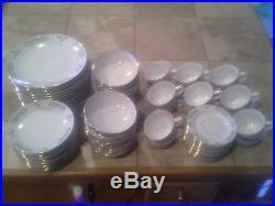 Gibson Holiday Charm 80 Piece Dinnerware Set Dish Plate & Cup (Christmas Set)
