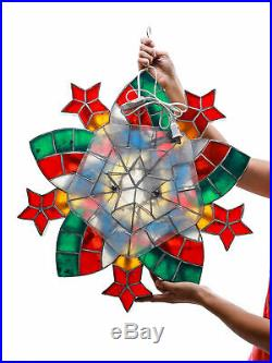 Gift Ko Elisi Capiz Parol 24 inch Christmas Star Lantern LED Multi-Colored