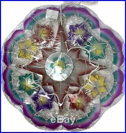 Gift Ko Tala Poinsettia Capiz Parol 24 inch LED Christmas Star Lantern BLUE Rope